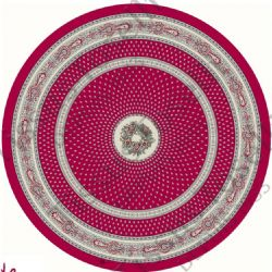 Provence Nimes Round Tablecloth 180cm Red/Beige